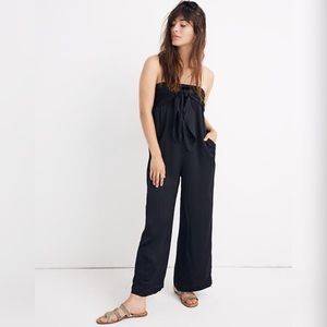 Madewell Knotted Tie-Front Jumpsuit